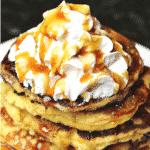 Keto Almond Flour Pancakes recipe Pinterest image
