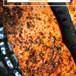 Pinterest image for Ninja Foodi Salmon