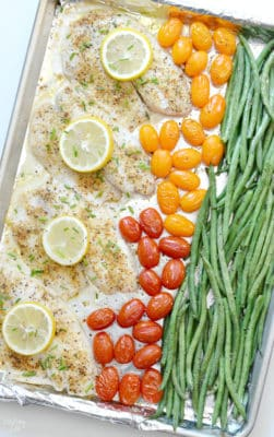 Sheet pan fish with vegetables