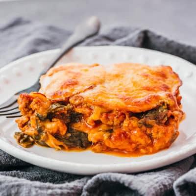 Keto Lasagna on a plate
