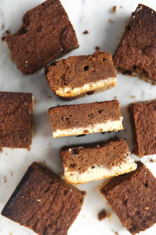 Chocolate Cheesecake Brownie Bars