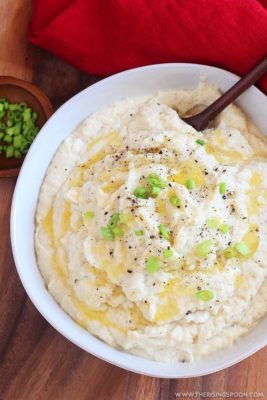 Low Carb Mashed Potatoes in a bowl