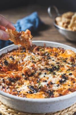 Keto Pizza Dip Supreme in a Baking dish