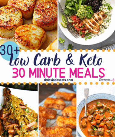 30 Minute Quick Keto Meals Pinterest image