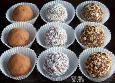 Keto Candy recipe for cream cheese truffles