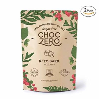 ChocZero Keto Bark with Hazelnuts