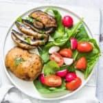 Air Fryer Garlic Mushroom Steaks