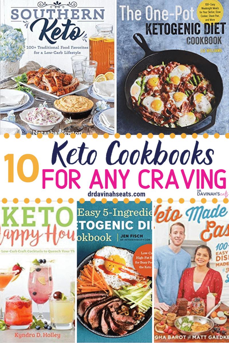 Pinterest image for Best Keto Cookbooks