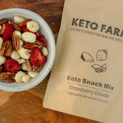 Keto Snack Mix Strawberry Gouda