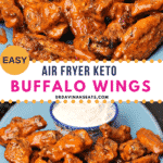 Pinterest image for Keto Buffalo Wings