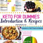 Keto For Dummies Guide Pinterest image