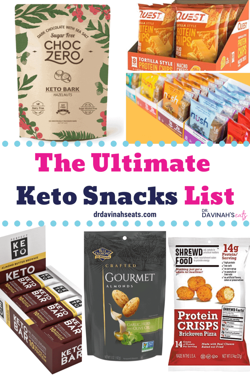 Pinterest image for Keto Snacks guide