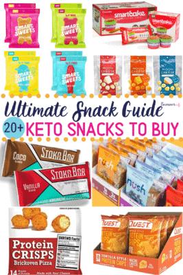 Keto Snacks to Buy Pinterest image