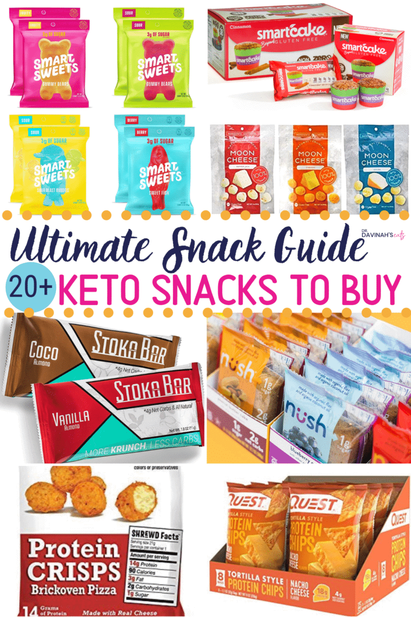 Keto Snacks to Buy Pinterest image