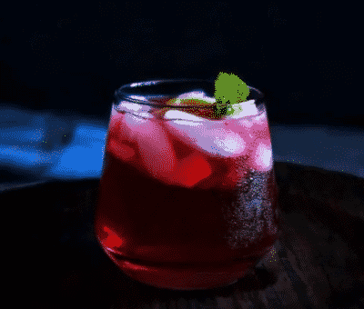 hibiscus gin keto cocktail in a cup