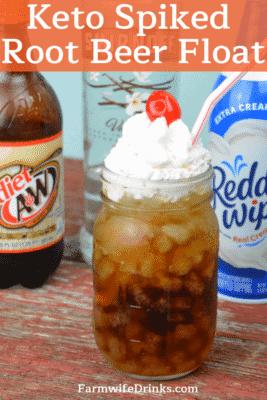 Keto Spiked Root Beer Drink