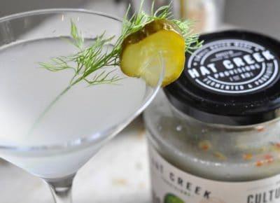 Spicy Pickle Martini