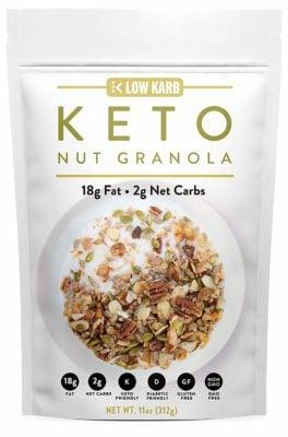 Keto Nut Granola Breakfast