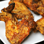 Ninja Foodi Air Fryer Wings on a plate