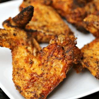 Ninja Foodi Air Fryer Wings on a plate