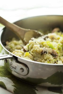 Mushroom and Leek Cauliflower Rice
