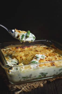 Low-Carb Green Bean and Mushroom Casserole