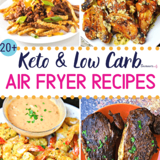 Pinterest Image for Keto Air Fryer Recipes