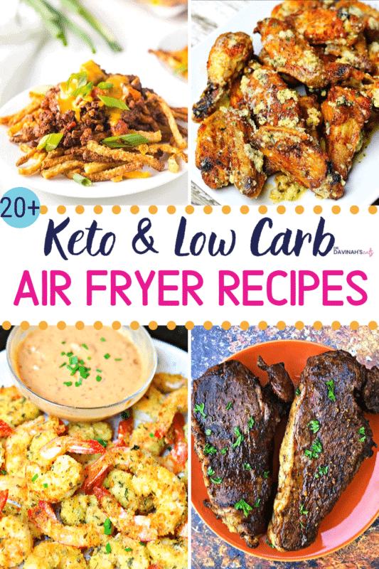 Pinterest Image for Keto Air Fryer Recipes
