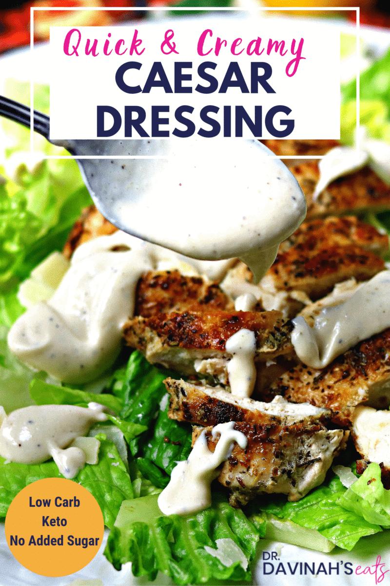 Creamy Caesar Dressing Pinterest Image