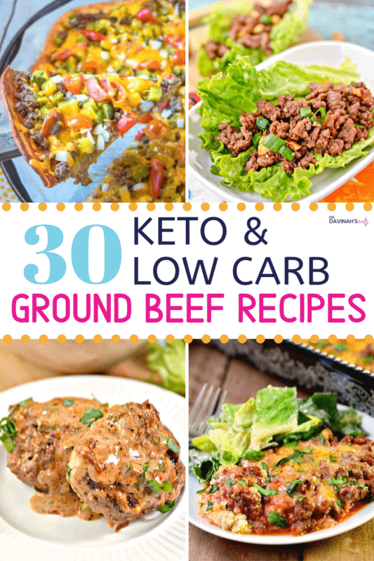 Keto Ground Beef Recipes Pinterest Image