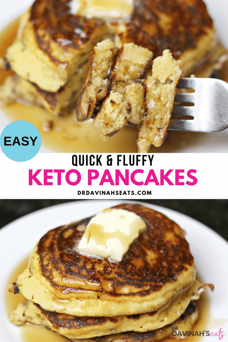 Pinterest image for Keto Almond Flour Pancakes