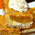 Pinterest Image for Healthy Pumpkin Pie Bars