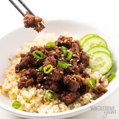 Easy Korean ground beef recipe