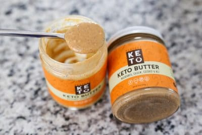 Two jars of Perfect Keto Nut Butter