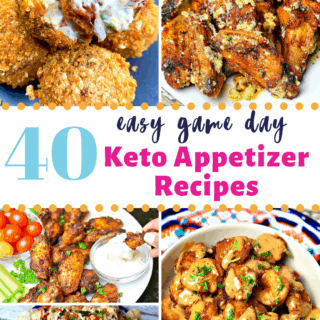 Pinterest image for Keto appetizers