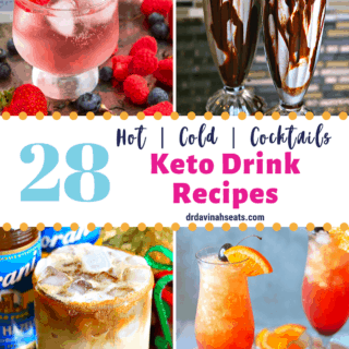 pinterest image for keto drink recipes