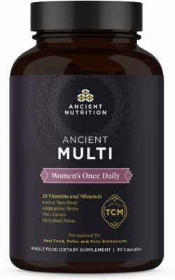 A bottle of Ancient Nutrition women's multi-vitamin