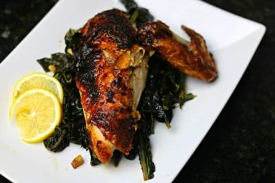 Air Fryer Whole Chicken on a plate