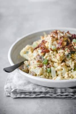 Cauliflower & Bacon Salad On A Plate