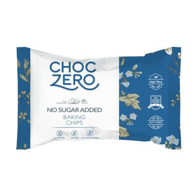 A bag of ChocZero Sugar Free Chocolate Chips