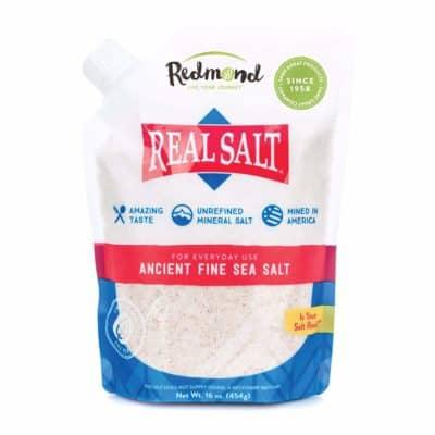 A bag of sea salt