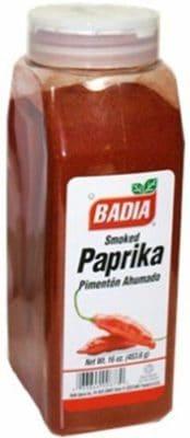 A jar of Badia Smoked Paprika