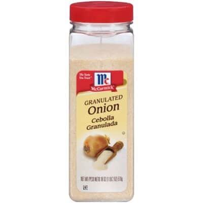 A jar of onion powder