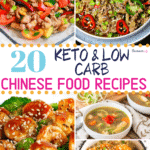 Pinterest image for Keto & Low Carb Chinese Food Recipes