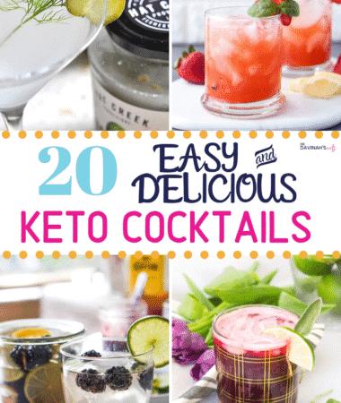 Keto Cocktails recipes Pinterest image
