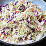 Keto Coleslaw Recipe in a bowl