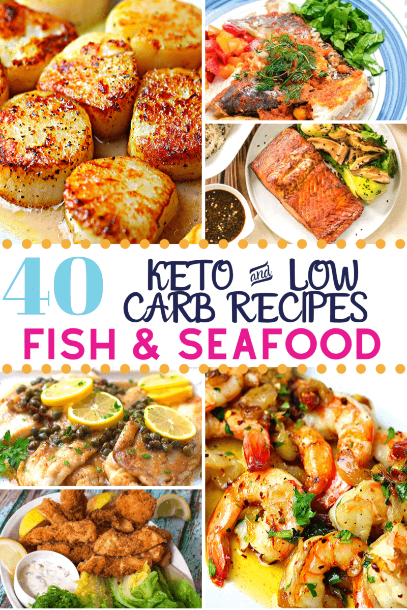 Pinterest image for Keto Fish & Seafood recipes