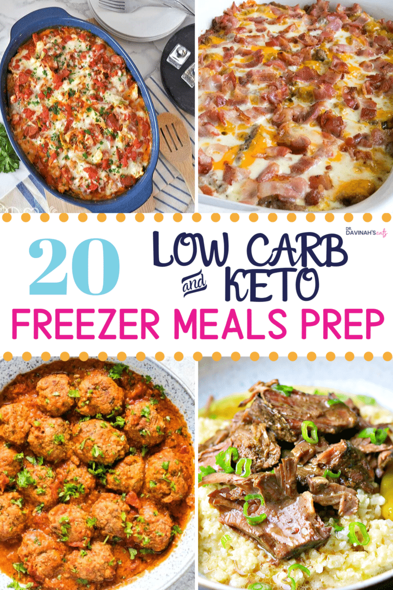 Keto Frozen Meals Recipes Pinterest image
