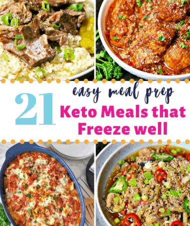 low carb freezer meals pinterest image