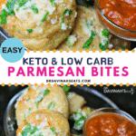 Pinterest Image for Keto Garlic Parmesan Bites